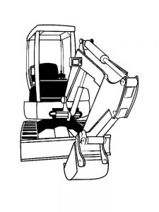 Excavator Coloring Page Game