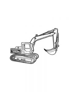 Excavator Coloring Page Printable