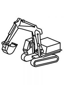 Excavator Coloring Pages Printable