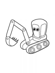 Excavator Coloring Pages To Print