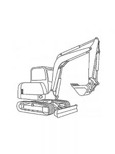 Excavator Truck Coloring Pages