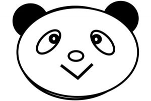 Face panda bear coloring pages