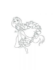Fairies And Princesses Coloring Pages