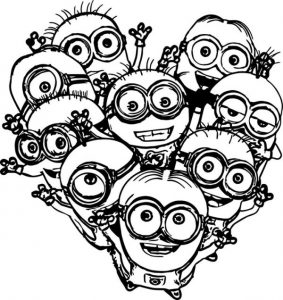 Family minion coloring pages