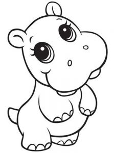 Fiona Hippo Coloring Pages