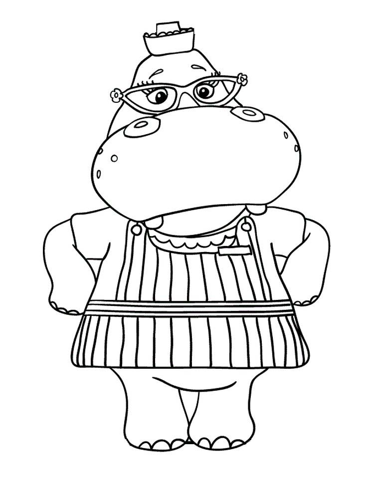 Fiona The Hippo Coloring Pages