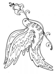 Fish And Bird Coloring Pages