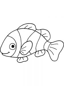Fish And Bread Coloring Page