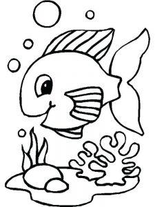 Fish And Chips Coloring Page