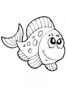 Fish Aquarium Coloring Page