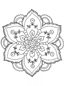 Flower Border Coloring Pages