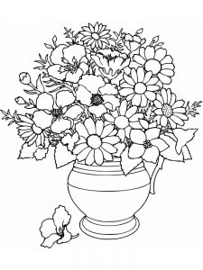 Flower Butterfly Coloring Pages