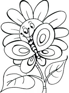 Flower Coloring Book Pages Free