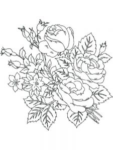 Flower Coloring Pages Already Colored