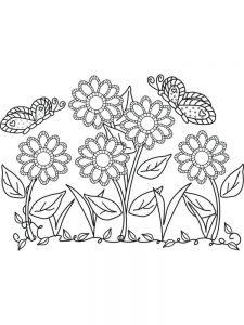 Flower Coloring Pages By Numbers