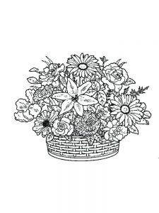 Flower Coloring Pages Easy