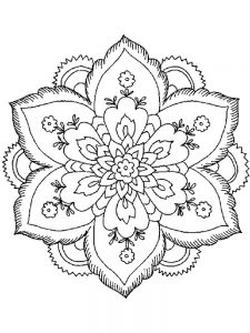 Flower Coloring Pages For Adults