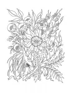 Flower Coloring Pages Pinterest