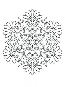 Flower Colouring Book Pages