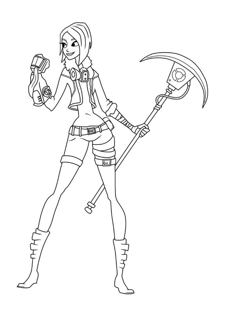 Fortnite Coloring Pages Alpine Ace