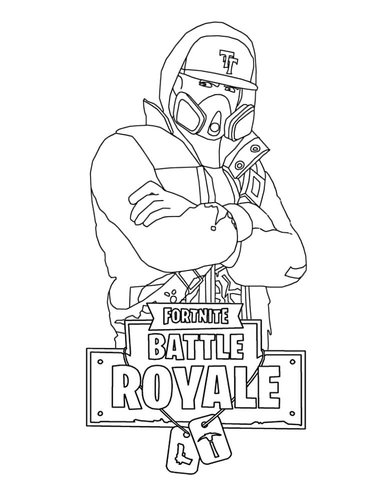 Fortnite Coloring Pages Guns