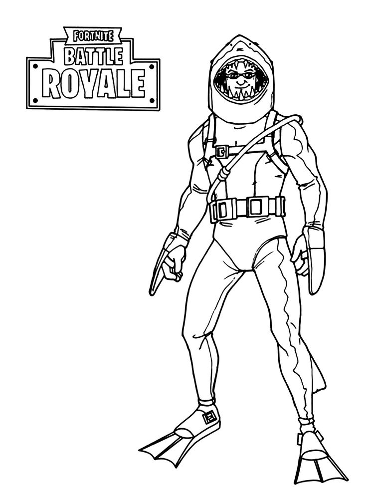 Fortnite Coloring Pages Scar