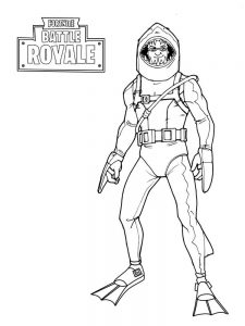 Fortnite Coloring Pages Skull Trooper