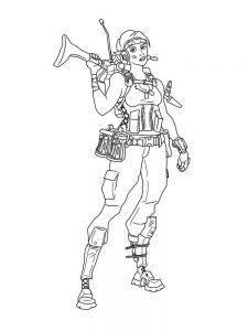 Fortnite Colouring Pages A4