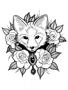 Fox Coloring Pages Free