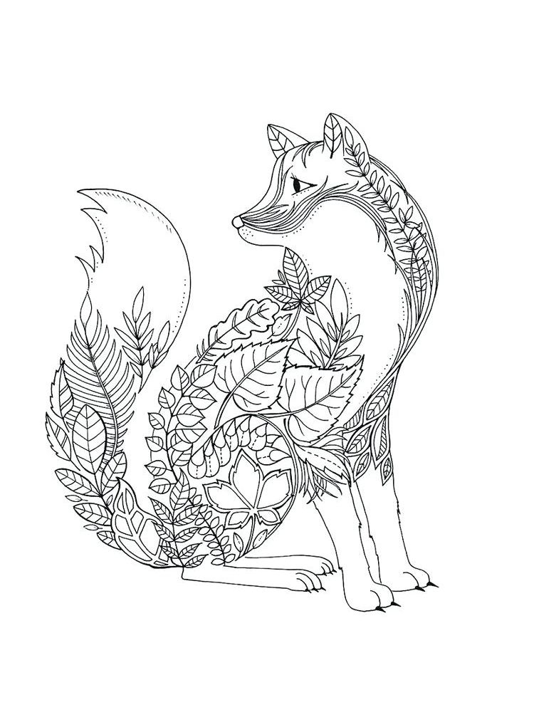 Fox Coloring Pages Pdf
