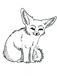 Fox Girl Coloring Pages