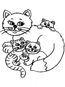Free Cat And Kitten Coloring Pages