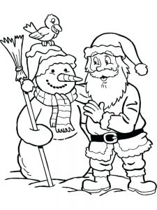 Free Christmas Coloring Pages Printables Santa