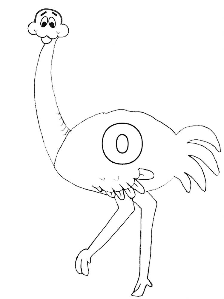 Free Coloring Book Pages Ostrich