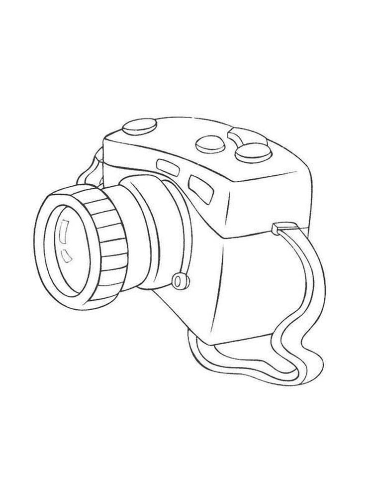 Free Coloring Page Of A Camera