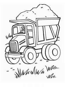 Free Coloring Pages Of Dump Truck