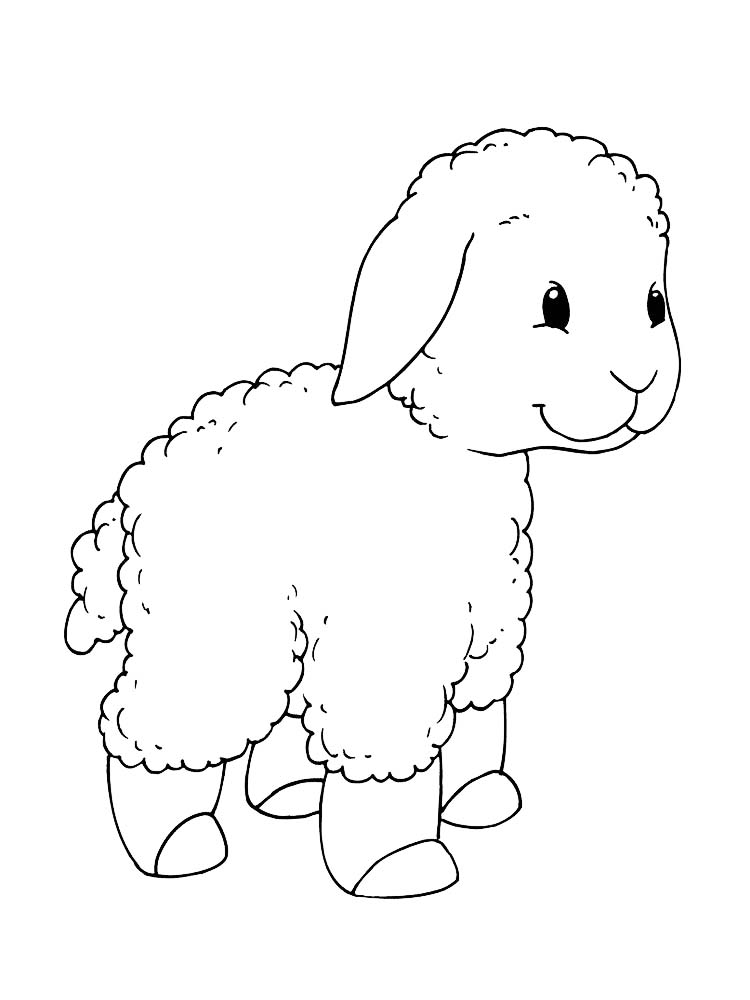 Free Coloring Pages Of Sheep