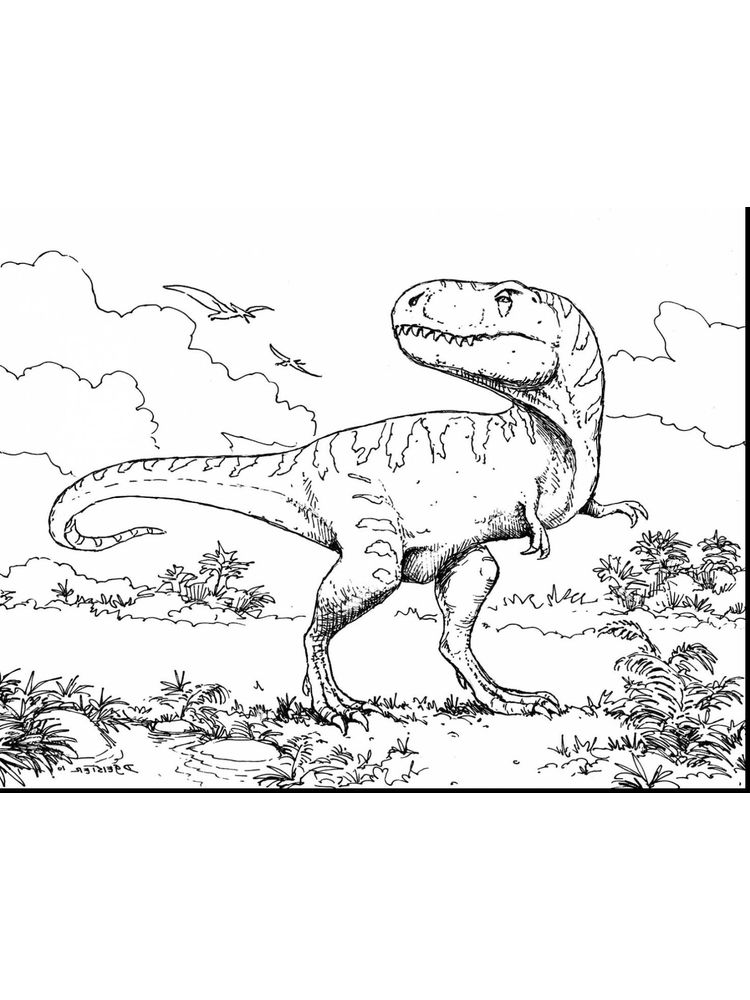 Free Coloring Pages Of T Rex