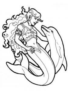 Free Dolphin Coloring Pages Adults