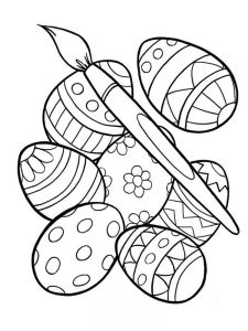 Free Easter Egg Coloring Pages For Adults