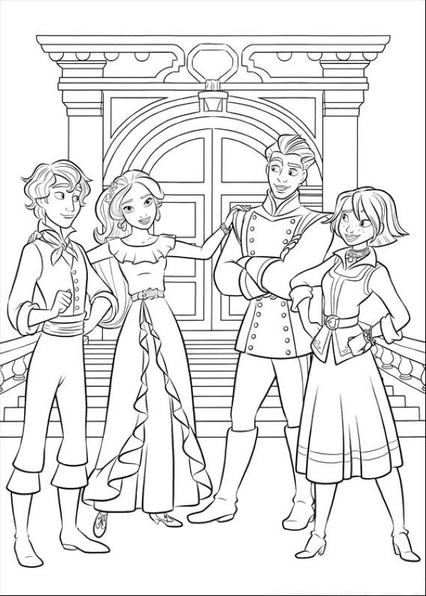 Free Elena of Avalor Coloring Pages