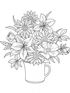 Free Flower Colouring Pages Adults