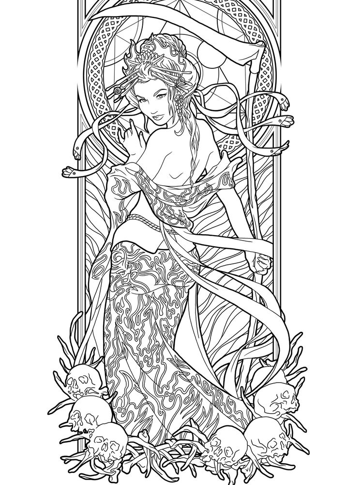 Free Gothic Coloring Pages