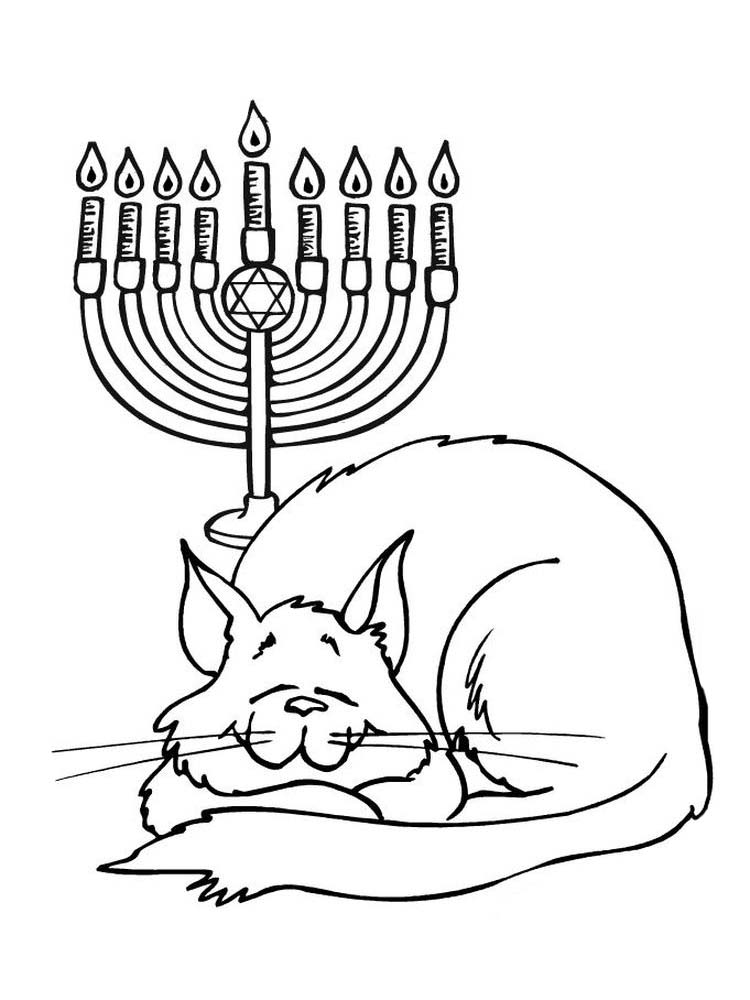 Free Hanukkah Coloring Pages To Print