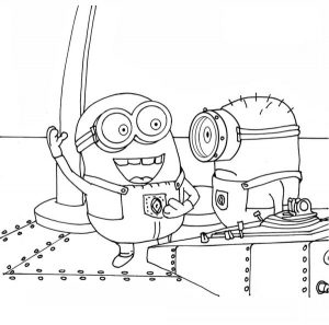 Free Minion Coloring Page Printable