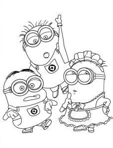 Free Minions Coloring Page