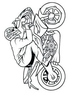 Free Motorcycle Coloring Pages To Print