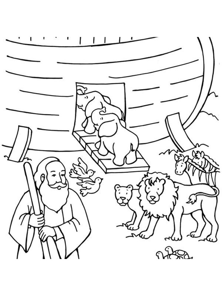 Free Noah Ark Animals Coloring Pages
