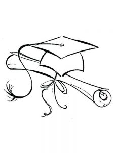 Free Pre K Graduation Coloring Pages