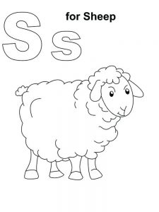 Free Printable Coloring Pages Of Sheep
